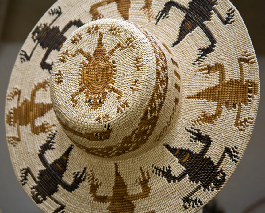 Abe Sanchez basketry hat