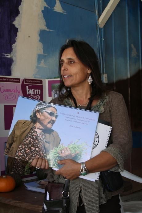 Winona LaDuke with Ethnobotanical Calendar