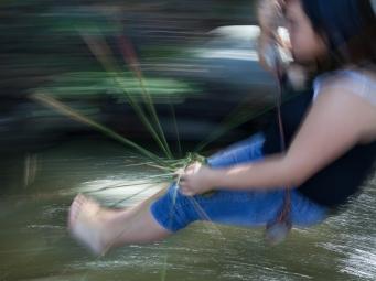 Aiyana Smith, Pala, weaving her juncus basket