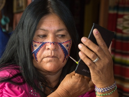 Panchita Moreno applies facepaint