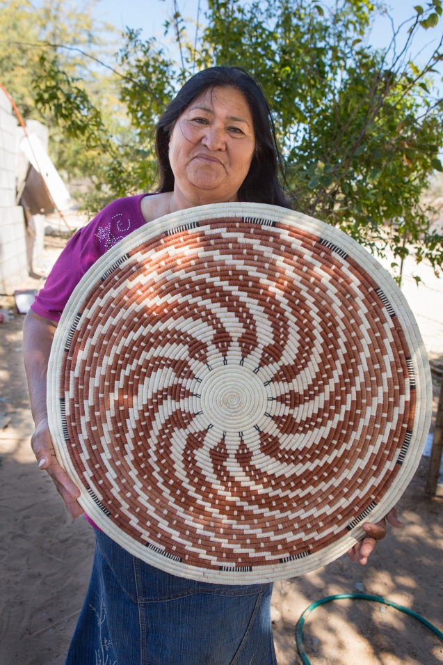 Panchita Moreno holds her snake basket