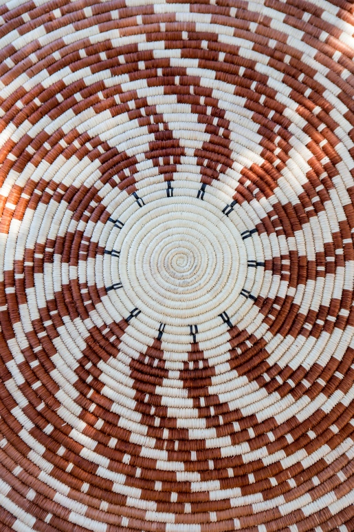Panchita Moreno's basket woven with limber bush