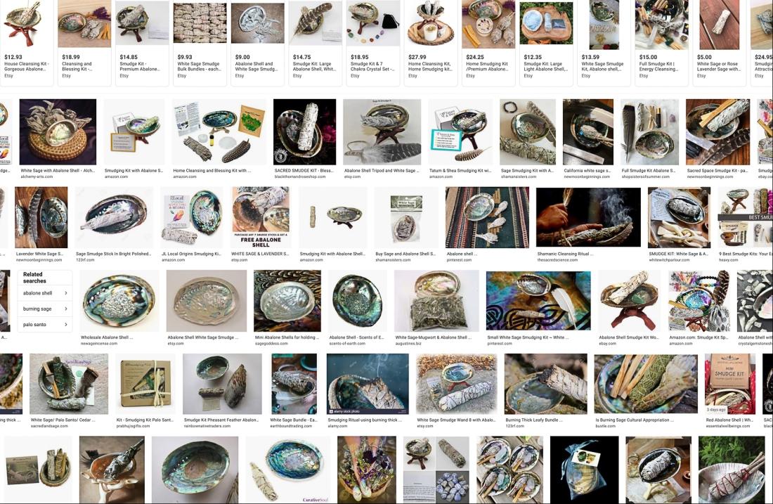 Amazon screen shot abalone kits